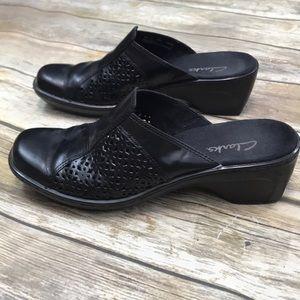 Clarks mule shoes